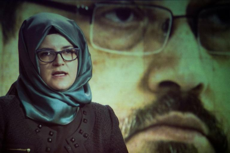 Hatice Cengiz, the fiancee of the late journalist Jamal Khashoggi, sued Saudi Arabia's crown prince and other Saudis in US court over the Khashoggi's murder in October 2018