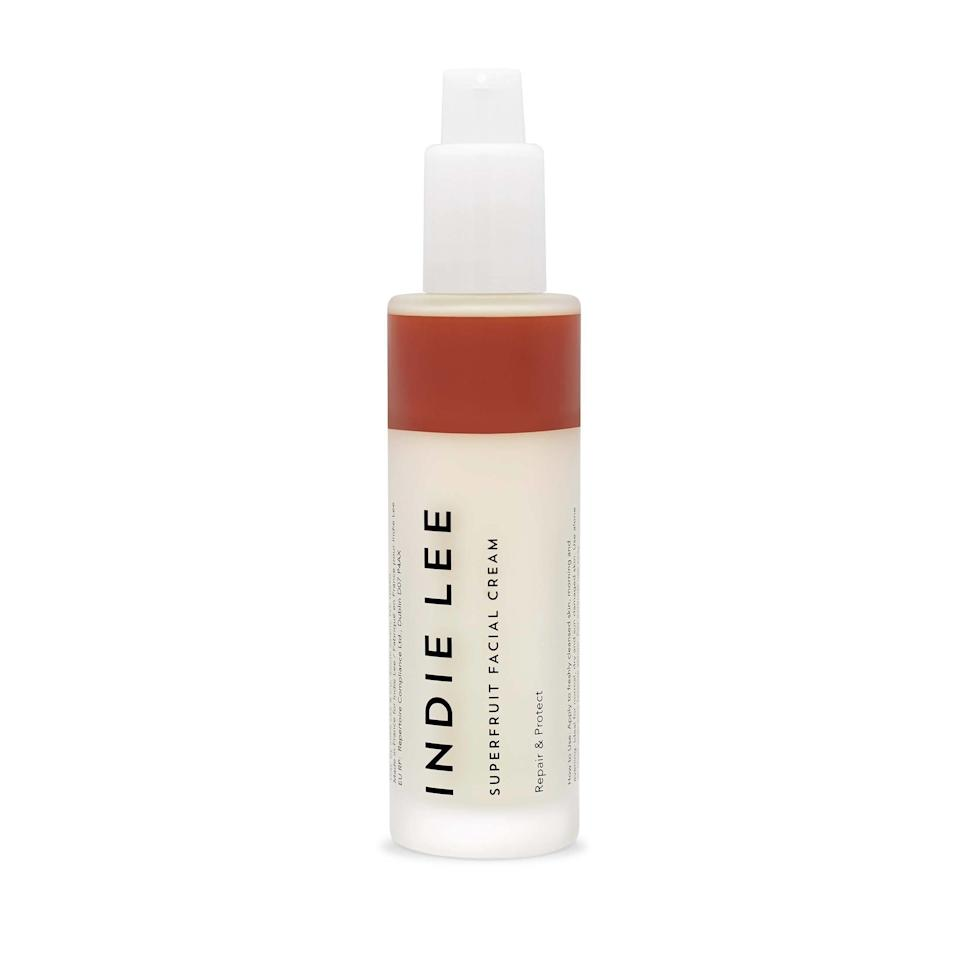 <p>Superfruits don't just belong in your morning smoothie, they also make for an effective skincare ingredient. Take Indie Lee's new moisturizer for example. Pomegranate, acai berry, and acerola fruit extract shield skin from environmental stressors and boost radiance. </p>