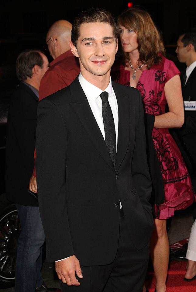 "<a href=""http://movies.yahoo.com/movie/contributor/1804503925"">Shia LaBeouf</a> at the Los Angeles premiere of <a href=""http://movies.yahoo.com/movie/1809955918/info"">Eagle Eye</a> - 09/16/2008"