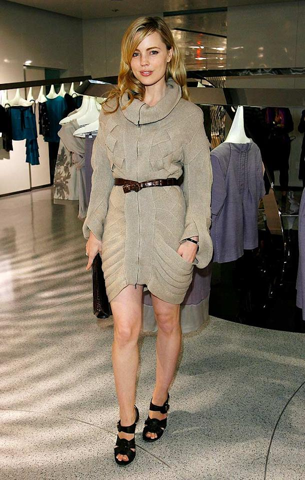 "We're not sure if Melissa George's outfit is supposed to stand alone as a dress. It's certainly original! Donato Sardella/<a href=""http://www.wireimage.com"" target=""new"">WireImage.com</a> - November 12, 2008"