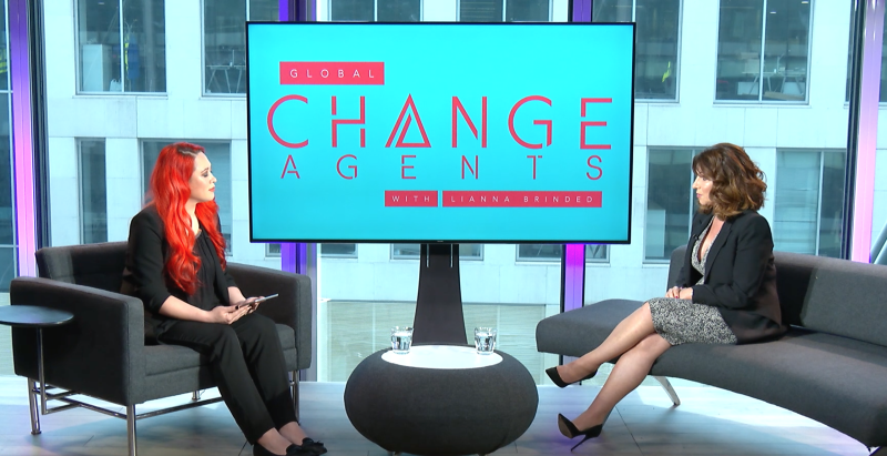 Ann Summers CEO Jacqueline Gold (right) was speaking on Yahoo Finance UK's 'Global Change Agents with Lianna Brinded' show.