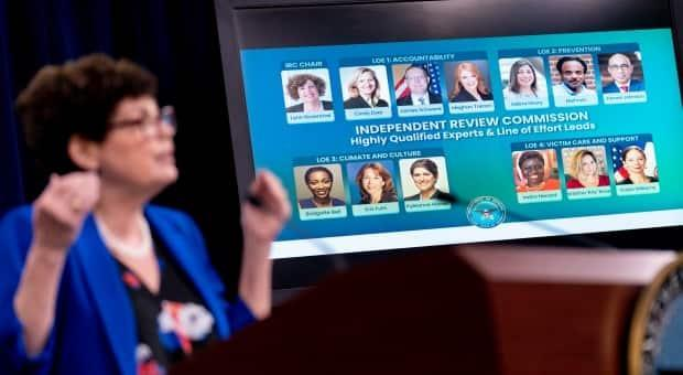 The Pentagon recently announced a 90-day review into how sexual assault cases in the military are investigated, with panel members seen on the screen. Just one month later, there are reports the panel is already urging a change in the reporting system for assaults.