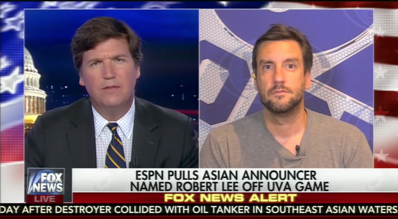 Tucker Carlson and Clay Travis