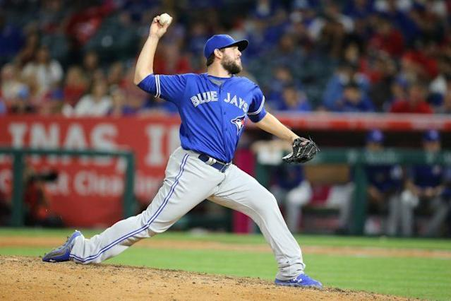 Dominic Leone is playing a far larger role in the Blue Jays bullpen than expected. (Peter Joneleit/Cal Sport Med/REX/Shutterstock)
