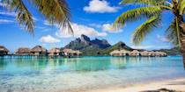 """<p>It's hard to top the powder-soft white-sand beaches on the island of Bora Bora, which have calm azure waters and shallow lagoons, making them fabulous spots for snorkeling. Experiencing the islands from an over-the-water bungalow is definitely on our bucket list.</p><p><strong>More</strong>: <a href=""""https://www.bestproducts.com/fun-things-to-do/g2713/most-beautiful-places-in-the-world/"""" rel=""""nofollow noopener"""" target=""""_blank"""" data-ylk=""""slk:These Travel Destinations Are the Most Beautiful Places in the World"""" class=""""link rapid-noclick-resp"""">These Travel Destinations Are the Most Beautiful Places in the World</a><br></p>"""