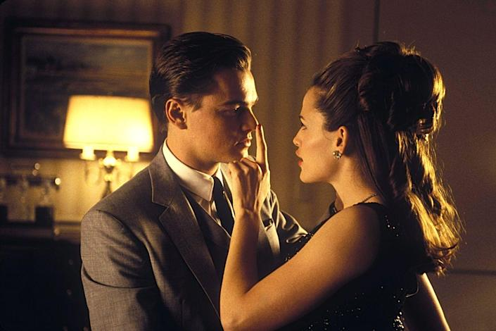 """<p>Garner had a small (but memorable) role in this 2002 hit as a model who spends the night with Leonardo DiCaprio's con artist character. Director Steven Spielberg specifically sought her out for the cameo because he liked her work on <em>Alias</em>. </p><p><a class=""""link rapid-noclick-resp"""" href=""""https://www.amazon.com/Catch-Me-If-You-Can/dp/B00B6M9Y7G/ref=sr_1_1?tag=syn-yahoo-20&ascsubtag=%5Bartid%7C10072.g.27131604%5Bsrc%7Cyahoo-us"""" rel=""""nofollow noopener"""" target=""""_blank"""" data-ylk=""""slk:WATCH NOW"""">WATCH NOW</a></p>"""