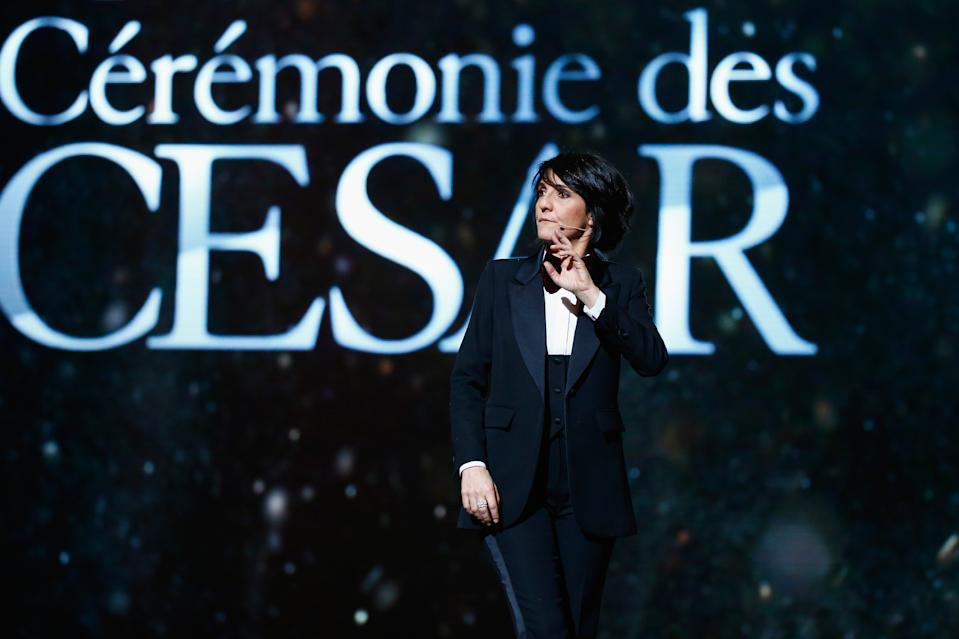 PARIS, FRANCE - FEBRUARY 26:  Florence Foresti  on stage during The Cesar Film Award 2016 at Theatre du Chatelet on February 26, 2016 in Paris, France.  (Photo by Julien Hekimian/Getty Images)