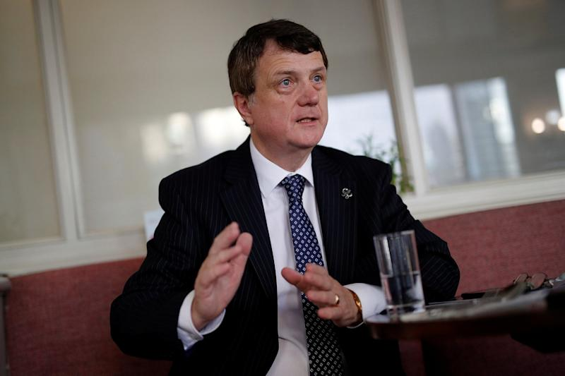 Ukip leader Gerard Batten at the party's annual conference in Birmingham: REUTERS