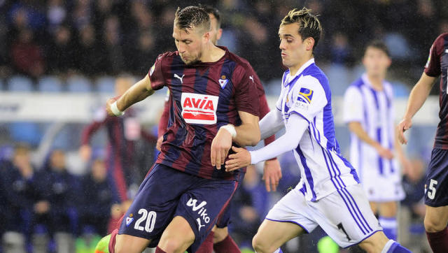 <p>25-year-old Lejeune swapped the Man City bench for the Basque country last summer and has flourished in La Liga, firmly establishing himself as one of the division's most feared and coveted centre backs.</p> <br><p>The towering defender is fantastic in the air, and is already being touted for a move back to the Premier League with either Arsenal or Tottenham next season. Chances are he will cost a lot more than the £1.5m fee Eibar paid Man City.</p>