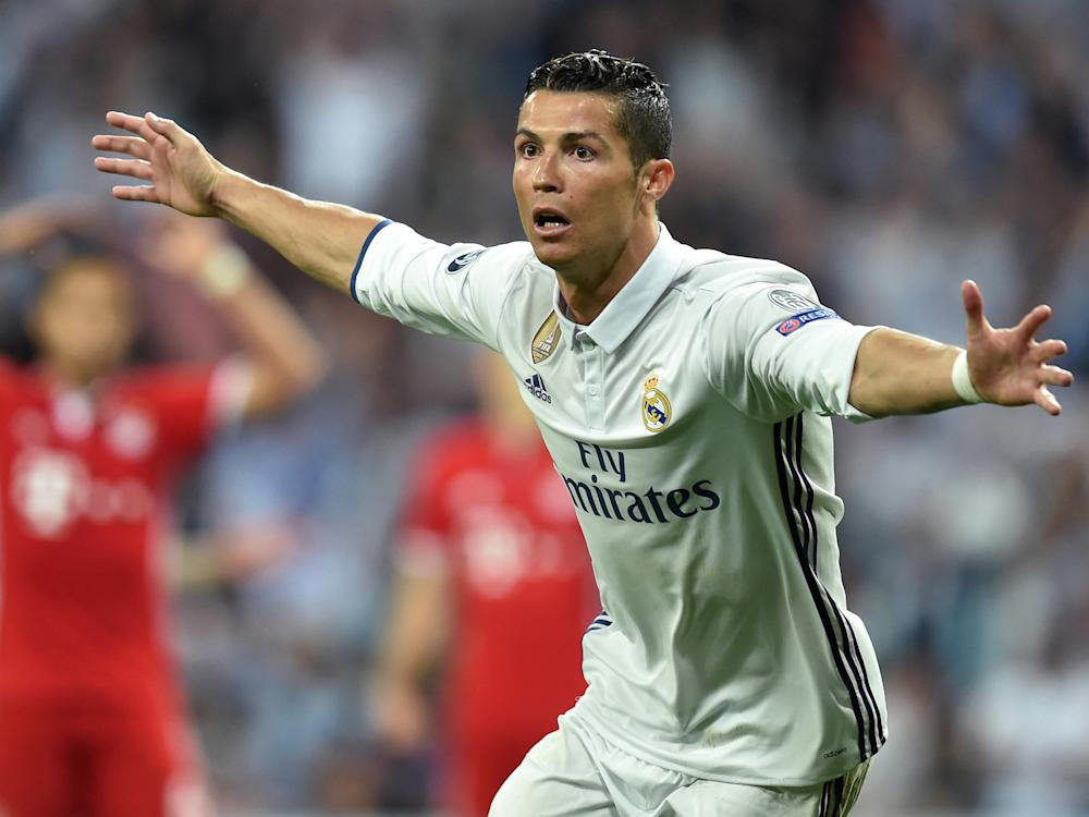 Cristiano Ronaldo scored three to seal Madrid's place in the last four: Getty