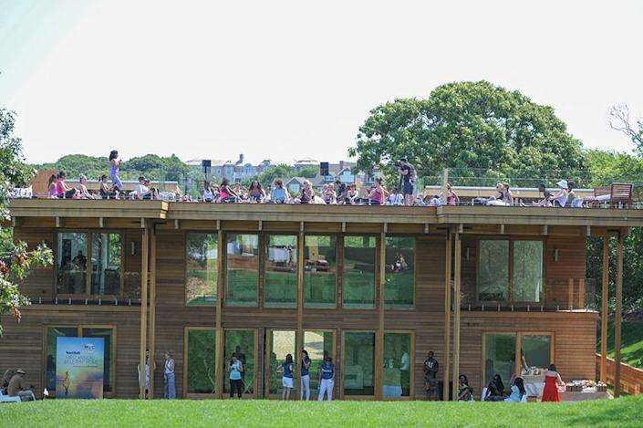 <p>The roof deck proved popular during the summer retreat.</p>