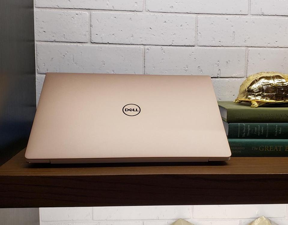 The Dell XPS 13's rose gold chassis is a stunner, but it'll cost you an extra $50.