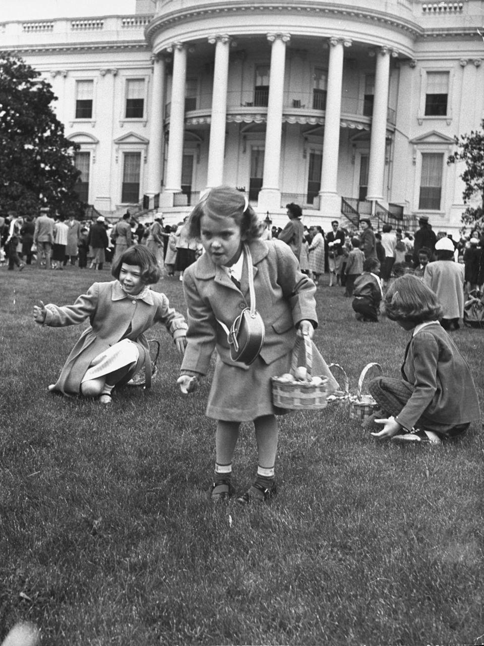 """<p>The tradition of the White House Easter Egg roll dates back to 1878, when President <a href=""""https://www.goodhousekeeping.com/life/g5126/president-facts/?slide=19"""" rel=""""nofollow noopener"""" target=""""_blank"""" data-ylk=""""slk:Rutherford B. Hayes"""" class=""""link rapid-noclick-resp"""">Rutherford B. Hayes</a> opened the White House lawn for the tradition after being approached by children on one of his daily walks. Previously, children had celebrated Easter by <a href=""""http://www.history.com/news/a-brief-history-of-the-white-house-easter-egg-roll"""" rel=""""nofollow noopener"""" target=""""_blank"""" data-ylk=""""slk:playing games on Capitol Hill"""" class=""""link rapid-noclick-resp"""">playing games on Capitol Hill</a>, but Ulysses S. Grant signed a bill banning the practice.</p><p>The <a href=""""https://whitehouse.gov1.info/easter-egg-roll/"""" rel=""""nofollow noopener"""" target=""""_blank"""" data-ylk=""""slk:White House Easter Egg Roll"""" class=""""link rapid-noclick-resp"""">White House Easter Egg Roll</a> is still a tradition today. Besides the Egg Roll, the celebration also features stations where children and their families can decorate cookies, dye eggs, and participate in an Easter Egg hunt. </p>"""