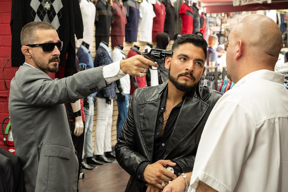 Shia LaBeouf and Bobby Soto in The Tax Collector (RLJE Films)
