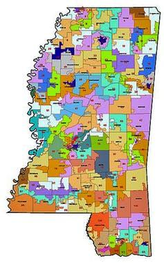 Mississippi's legislative districts