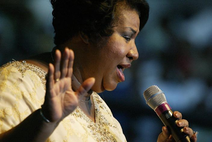 """Three handwritten wills have been found in the suburban Detroit home of Aretha Franklin, months after the death of the """"Queen of Soul."""" Aretha Franklin is seen her performing during the closing of the 25th annual Ford Detroit International Jazz Festival on Monday, September 06, 2004 at Hart Plaza in downtown Detroit."""