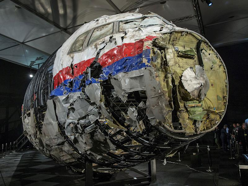 The reconstructed wreckage of Malaysia Airlines flight MH17: Reuters
