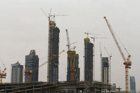 Buildings that are under construction are seen in Dubai