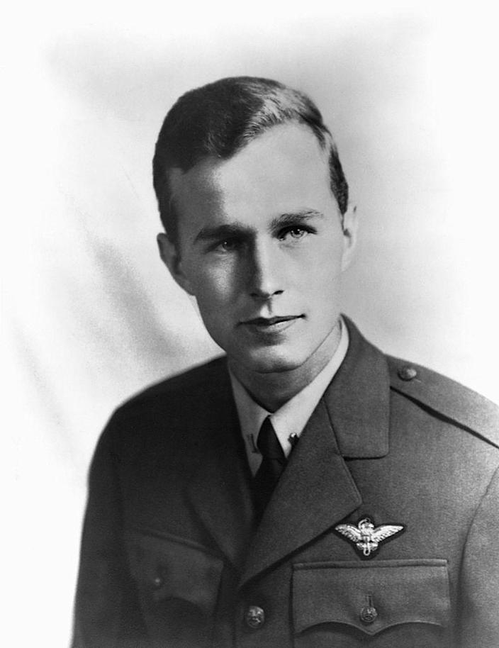 George Bush served in the Navy from June 1942 to September 1945, rising to the rank of lieutenant.