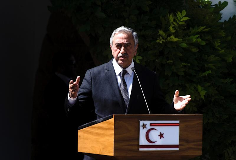 Turkish Cypriot leader Mustafa Akinci, pictured in June 2016, is the leader of the self-proclaimed Turkish Republic of Northern Cyprus, or TRNC, an entity recognised only by Turkey