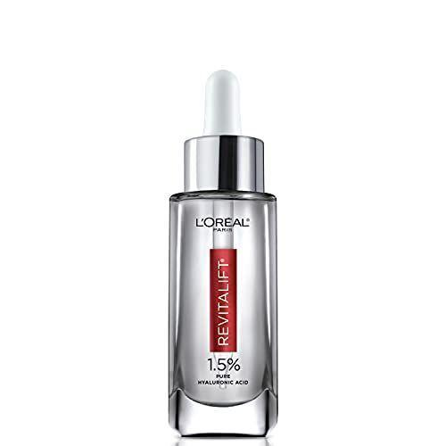 """<p><strong>L'Oreal</strong></p><p><strong>$14.88</strong></p><p><a href=""""https://www.amazon.com/dp/B07GVCVYB9?tag=syn-yahoo-20&ascsubtag=%5Bartid%7C10051.g.8091%5Bsrc%7Cyahoo-us"""" rel=""""nofollow noopener"""" target=""""_blank"""" data-ylk=""""slk:Shop Now"""" class=""""link rapid-noclick-resp"""">Shop Now</a></p><p>Not only does this serum rehydrate thirsty skin, but it also plumps out fine lines and wrinkles that desperately need a little boost. Your skin will immediately feel smoother and tighter, with a nice youthful glow.</p>"""