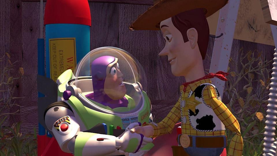 """<p>And if you'd rather not be Woody and Bo Peep, you and your partner (or friend or sibling) can be Woody and Buzz Lightyear, who are known for their amazing bond and friendship.</p><p><a class=""""link rapid-noclick-resp"""" href=""""https://www.partycity.com/adult-buzz-lightyear-costume---toy-story-4-P842745.html"""" rel=""""nofollow noopener"""" target=""""_blank"""" data-ylk=""""slk:SHOP BUZZ LIGHTYEAR COSTUME"""">SHOP BUZZ LIGHTYEAR COSTUME</a></p><p><a class=""""link rapid-noclick-resp"""" href=""""https://www.partycity.com/adult-woody-costume---toy-story-4-P842743.html?dwvar_P842743_size=Standard+Size&cgid=undefined"""" rel=""""nofollow noopener"""" target=""""_blank"""" data-ylk=""""slk:SHOP WOODY COSTUME"""">SHOP WOODY COSTUME</a> </p>"""