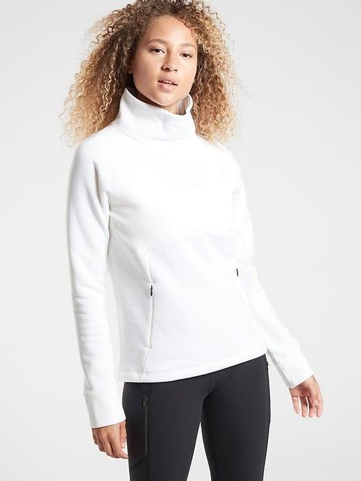 <p>This <span>Athleta Polartec Funnel Neck</span> ($118) is exactly the option we'd grab for outdoor workouts this season.</p>