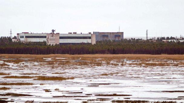 PHOTO: A picture taken on November 9, 2011 shows buildings at a military base in the small town of Nyonoska in Arkhangelsk region. (AFP/Getty Images)