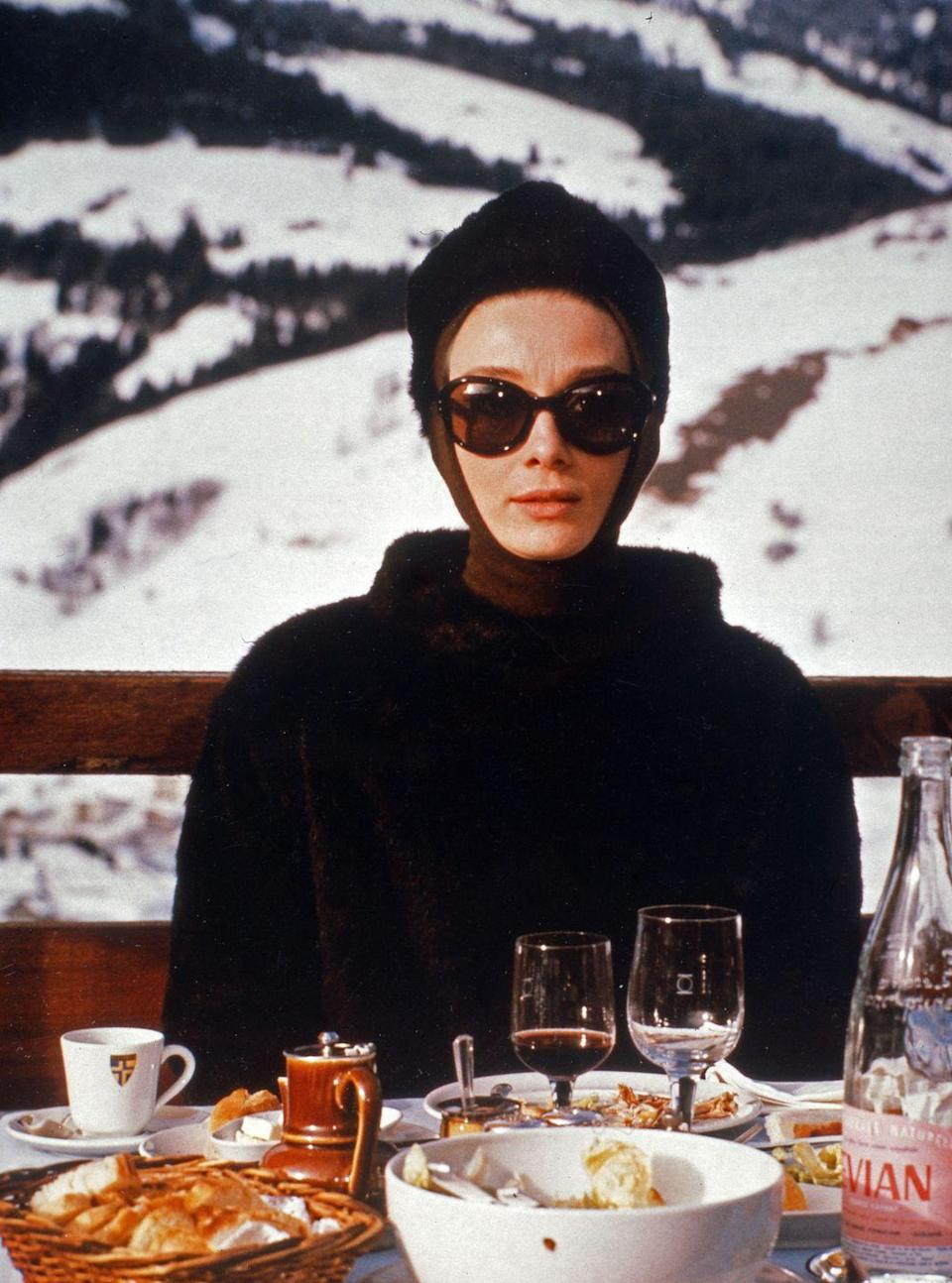 <p>There is nothing more sophisticated when it comes to apres ski than a look inspired by the slope side styles of Audrey Hepburn in <em>Charade. </em></p>