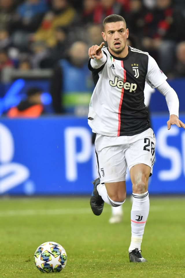 Juventus' Merih Demiral, said to be a target for Leicester City (Martin Meissner/AP)