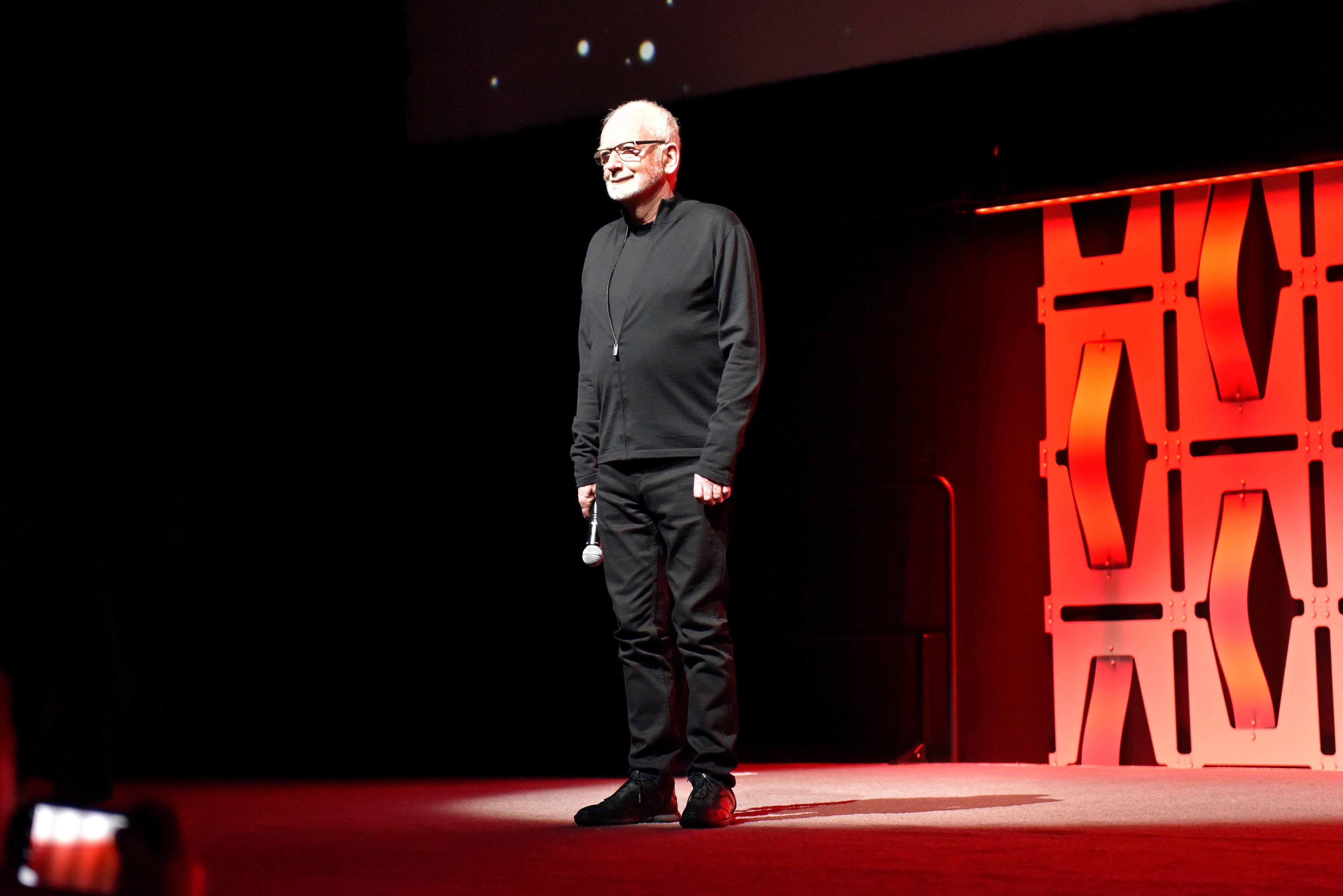 """Ian McDiarmid participates during the """"Star Wars: The Rise Of Skywalker"""" panel on day 1 of the Star Wars Celebration at Wintrust Arena on Friday, April 12, 2019, in Chicago. (Photo by Rob Grabowski/Invision/AP)"""