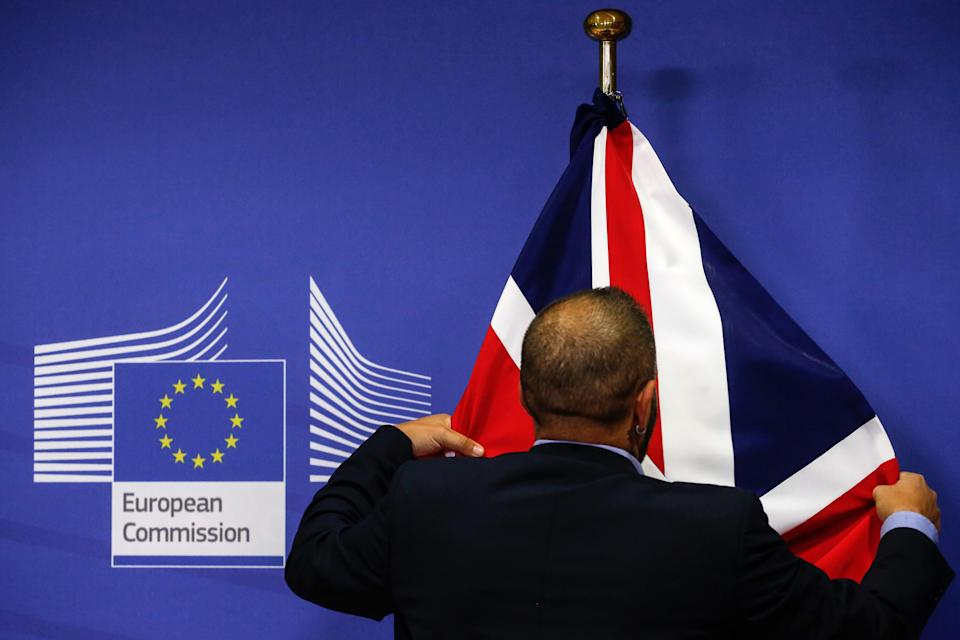 A British flag at the European Commission headquarters in Brussels (Getty)
