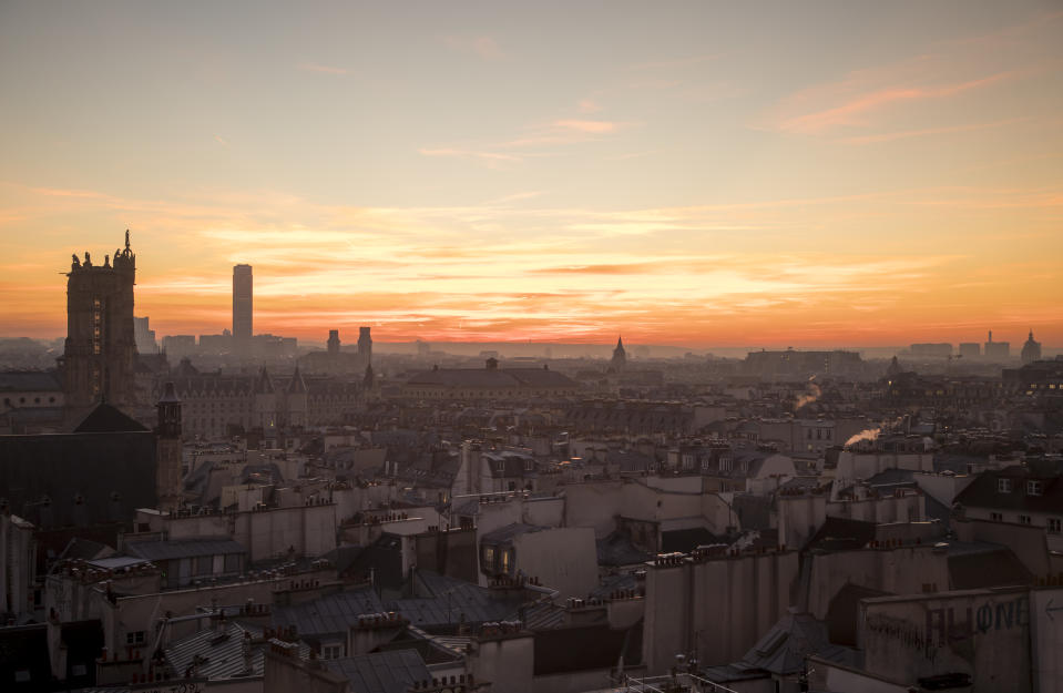 The skyline in Paris as French GDP data came in better than expected. Photo: Athanasios Gioumpasis/Getty Images