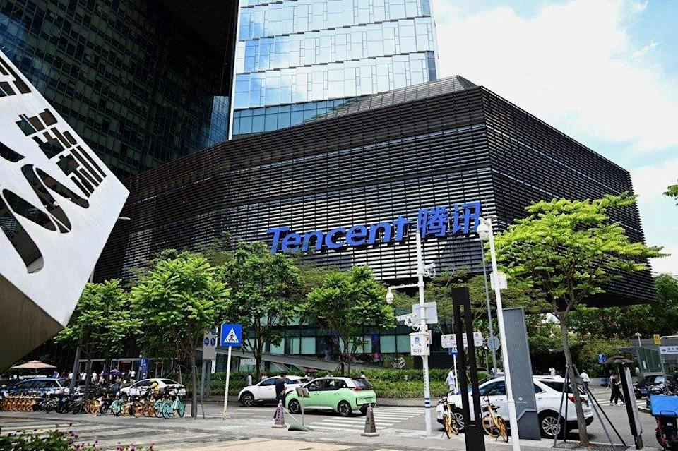 Shenzhen-based Tencent, pictured here on May 26, started rolling out restrictions for minors in video games in 2017 amid calls from the government to curb gaming addiction. Photo: AFP