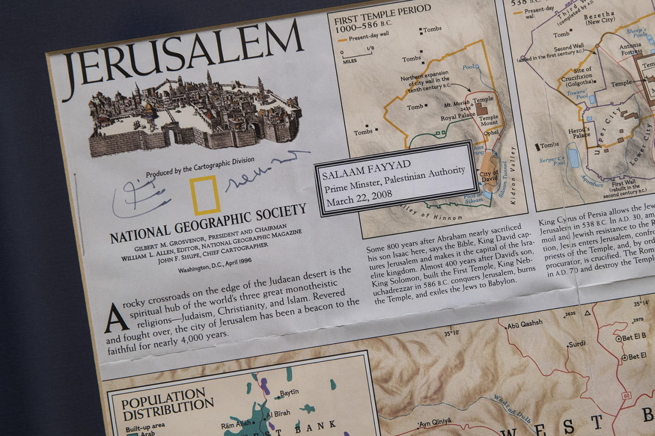 <p>A map of Israel is seen in the office of Rep. Peter Roskam (R-IL) in the Rayburn House Office Building February 1, 2017 in Washington, DC. (Aaron P. Bernstein for Yahoo News) </p>