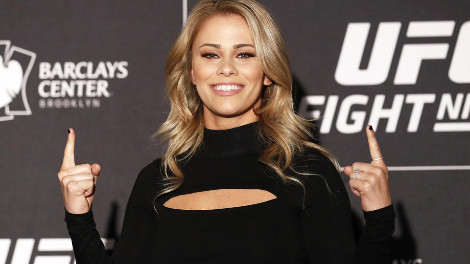 Paige VanZant, pictured here at Media Day ahead of UFC Fight Night Cejudo v Dillashaw in 2019.