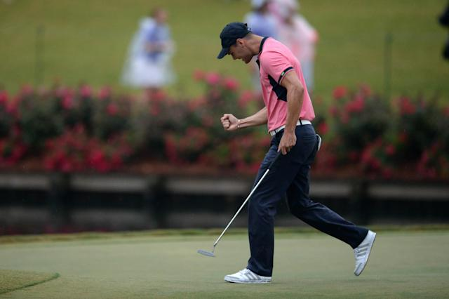 Martin Kaymer drains one of the clutch putts of the season to win the Players Championship