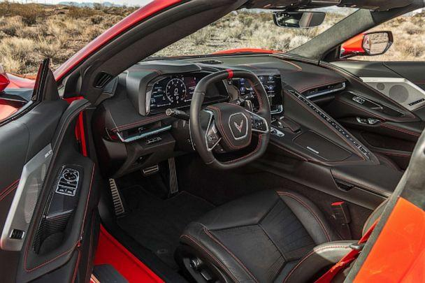 PHOTO: The interior of the 2020 Corvette Stingray. Chevrolet upgraded the driver-centric cockpit with premium leather and materials. (Chevrolet)