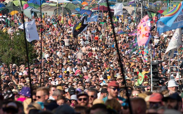 There are growing concerns that large UK music festivals like Glastonbury will be affected by the coronavirus outbreak - Geoff Pugh