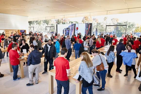 Apple store at Apple's Visitor Center.