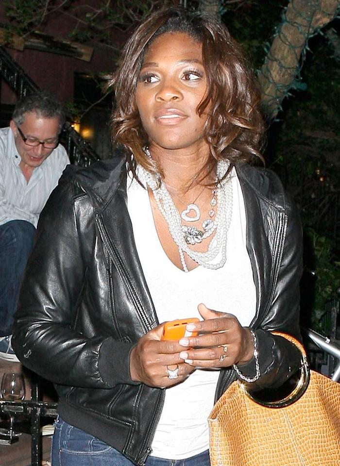 """Serena collected her third Wimbledon title this weekend, and stopped by the """"Late Show With David Letterman"""" before dinner to talk about her victory. T/<a href=""""http://www.x17online.com"""" target=""""new"""">X17 Online</a> - July 6, 2009"""