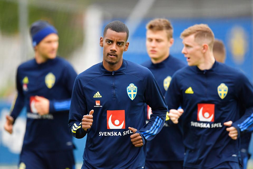 <p>Alexander Isak is one of Sweden's talented youngsters</p> (EPA)