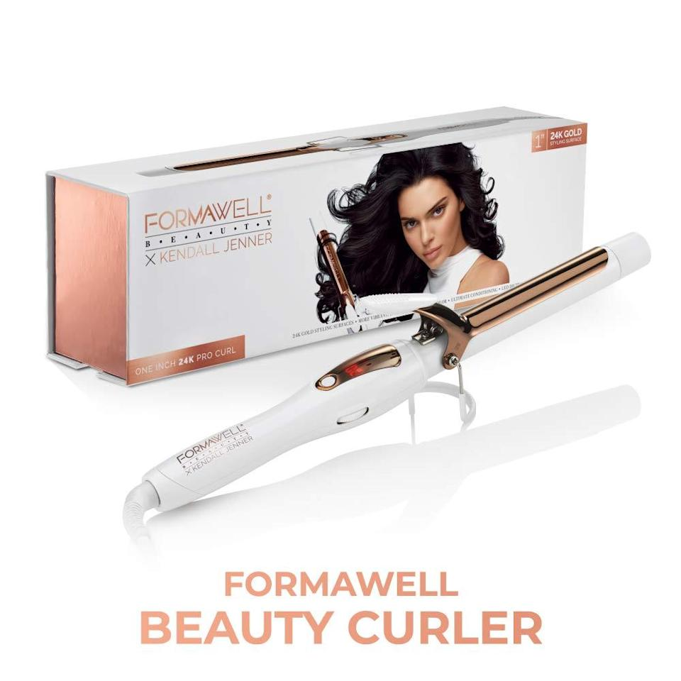 """<h3>Formawell Beauty x Kendall Jenner One Inch Curler </h3><br><br>In addition to being a great all-around entry-level curling iron, Formawell's version has extra upgrades like an extra-long cord and LED screen to keep an eye on the temperature. <br><br><strong>Formawell</strong> Kendall Jenner One Inch 24K Gold Pro Hair Curler, $, available at <a href=""""https://amzn.to/2FagO6b"""" rel=""""nofollow noopener"""" target=""""_blank"""" data-ylk=""""slk:Amazon"""" class=""""link rapid-noclick-resp"""">Amazon</a>"""