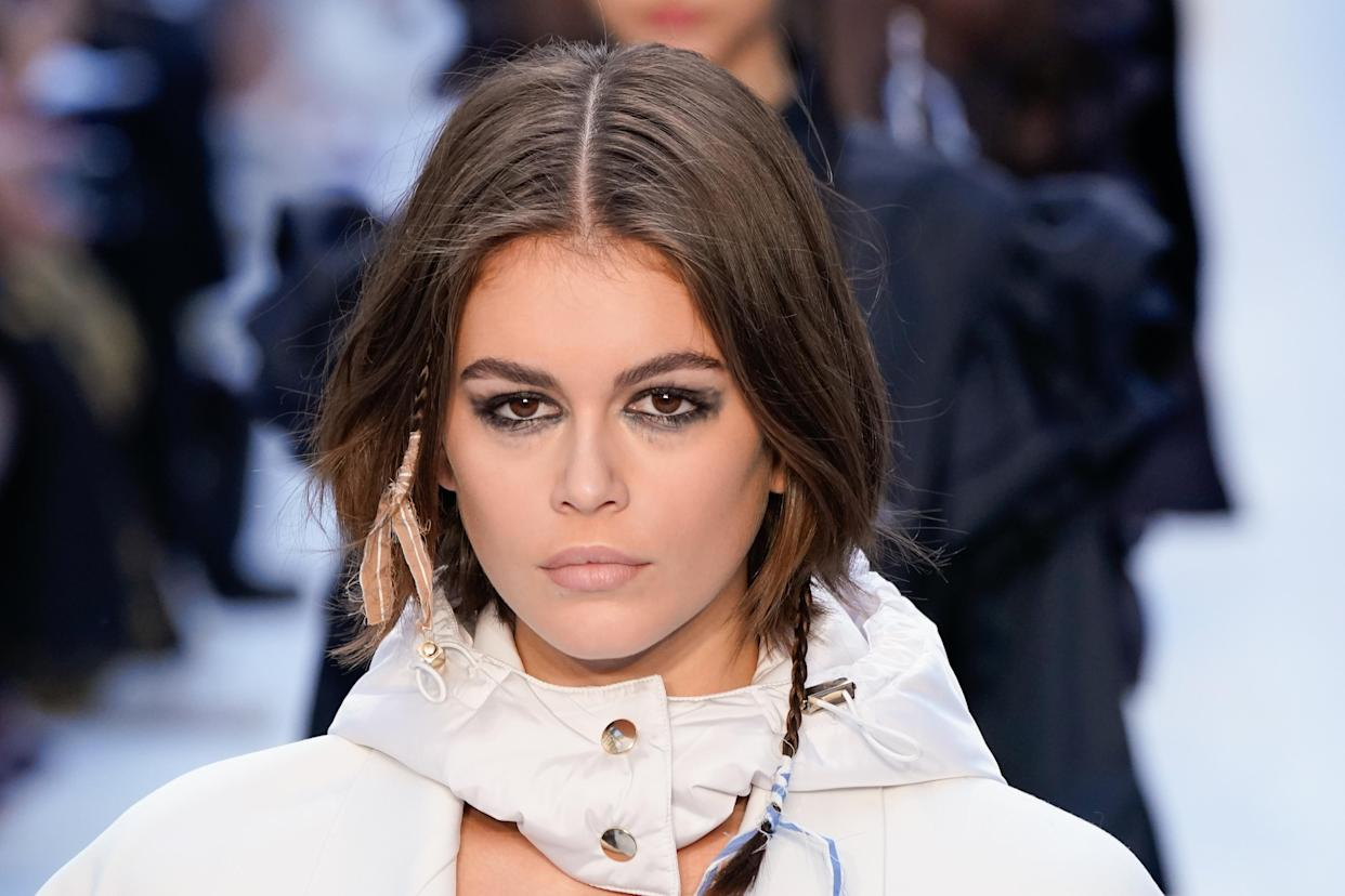 Model Kaia Gerber, daughter of Cindy Crawford and Rande Gerber, opens up about finding her voice. (Photo: Pietro D'Aprano/Getty Images)