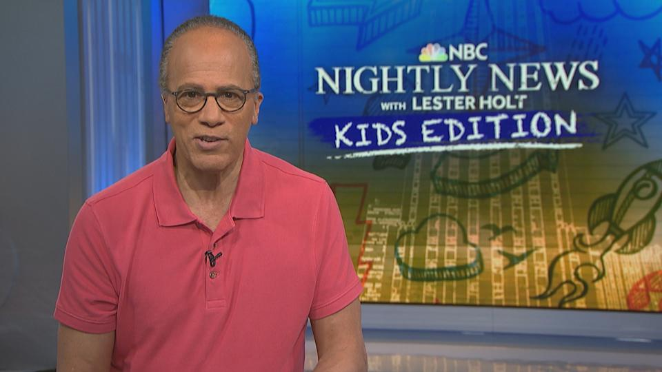 The newsman hosts NBC Nightly News with Lester Holt: Kids Edition. (Photo: NBC News)