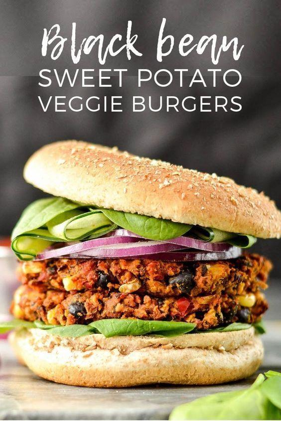 """<p>You won't regret going meatless for your next burger night, thanks to this tasty plant-based alternative. Might we also recommend serving with sweet potato fries?</p><p><strong>Get the recipe at <a href=""""https://joyfoodsunshine.com/baked-sweet-potato-black-bean-veggie-burgers/"""" rel=""""nofollow noopener"""" target=""""_blank"""" data-ylk=""""slk:Joy Food Sunshine"""" class=""""link rapid-noclick-resp"""">Joy Food Sunshine</a>. </strong></p><p><strong><a class=""""link rapid-noclick-resp"""" href=""""https://www.amazon.com/Nordic-Ware-Natural-Aluminum-Commercial/dp/B0049C2S32/?tag=syn-yahoo-20&ascsubtag=%5Bartid%7C10050.g.877%5Bsrc%7Cyahoo-us"""" rel=""""nofollow noopener"""" target=""""_blank"""" data-ylk=""""slk:SHOP BAKING SHEETS"""">SHOP BAKING SHEETS</a><br></strong></p>"""
