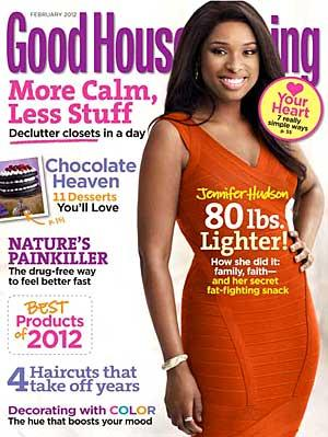 Jennifer Hudson on the February cover of Good Housekeeping. Art Streiber/Good Housekeeping