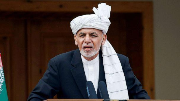PHOTO: Afghanistan's president, Ashraf Ghani, speaks during his inauguration as president in Kabul, Afghanistan, March 9, 2020. (Mohammad Ismail/Reuters, FILE)