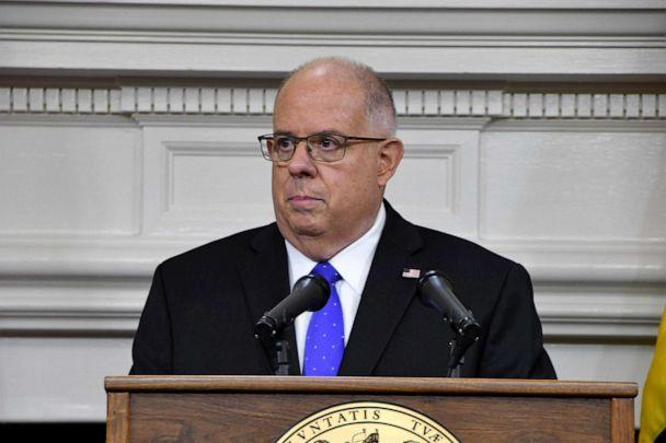 PHOTO: Maryland Gov. Larry Hogan discusses the coronavirus during a news conference at the State House in Annapolis, Nov. 10, 2020. (Pamela Wood/Baltimore Sun/Zuma Press, FILE)