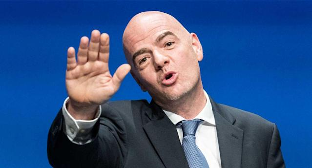 FIFA president Gianni Infantino's World Cup wish has come true. (AP Photo)